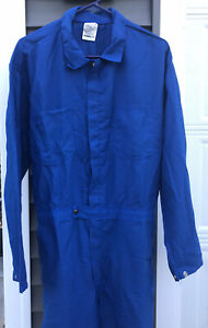 Nomex Royal Blue Coverall Safety Flame And Arc Flash Resistant Welding Auto Shop
