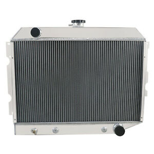 4 Row Aluminum Radiator For Dodge Challenger charger mopar 1970 1974 1973 1972