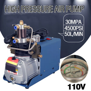 High Pressure Air Compressor Pump 30mpa 110v 4500psi Electric Air Pump Pcp