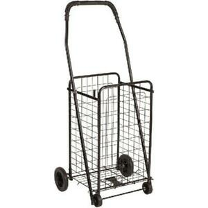 Foldable Rolling Shopping Cart Basket Luggage W Wheels Trolley