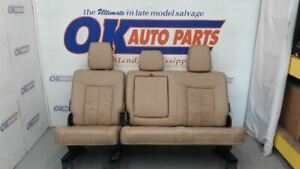 13 Ford F250 Super Duty Lariat Crew Cab Rear Seat Assembly Tan Leather