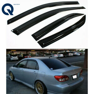Jdm Wavy 3d Style Smoked Window Visor Vent Shade For 2003 2008 Toyota Corolla