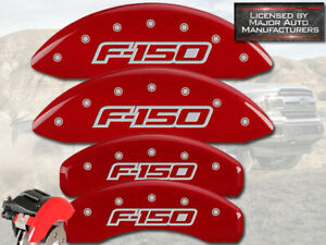 2012 2014 Ford F150 F 150 Front Rear Red Mgp Brake Disc Caliper Covers 4pc