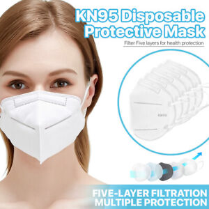 50 Pack Kn95 Face Mask 95 Filter Disposable Respirator 5 ply Protective Cover