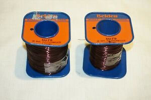 Lot Of Belden Magnet Wire 1 43 Lbs Of 8079 On Two Spools