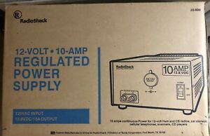 Radio Shack 10a 13 8v Regulated Linear Power Supply Cat No 22 506 Tested Vguc
