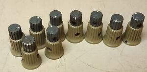 One Tektronix Tan Skirted Knob With Dot With Grey Top Knob From Sc503 Sc502