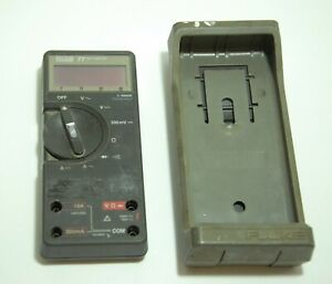 Fluke 77 Digital Multi Meter Leads Meter With Case no Probes leads