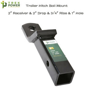 2 Drop Hitch Receiver Trailer Ball Mount For 2 Receiver 3 4 in Rise 6000 Lbs