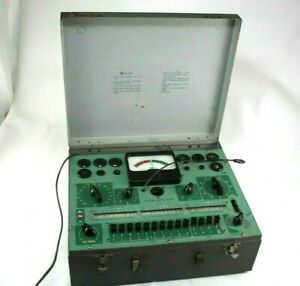 Sylvania Tube Tester Model 140 Powers Up And Lights Up Sold As Is