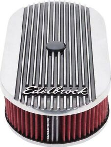 Edelbrock 4273 Elite Ii Oval Air Cleaner For Single Carburetor