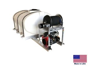 Pressure Washer Commercial Skid Mounted 8 Gpm 3000 Psi 500 Gallon Tank