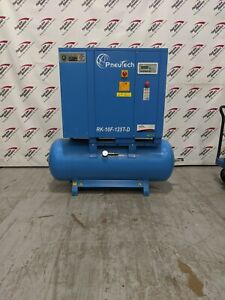 Used Pneutech 10hp Fixed Speed Rotary Screw Air Compressor With Integrated Dryer