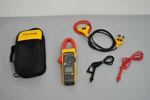 Fluke 376 Fc True Rms Ac dc Clamp Meter Iflex Flex Cable With Leads Case 376fc