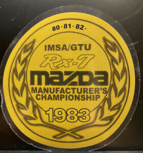 1983 Mazda Rx 7 Racing Sticker Mounts On The Inside Of The Glass