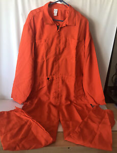 Elliott Coverall Clothing Protection Jumpsuit Orange Automotive Garage Work Wear
