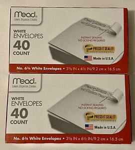 2 Pack Of 40 Easy Seal Mailing Envelopes Office Supplies 6 3 4 Small Self Seal
