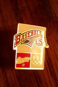 Baseball USA Coca Cola Olympics lapel pin c32351 coke