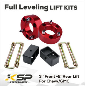 3 Front 2 Rear Leveling Lift Kit For 2007 2020 Chevy Silverado Sierra Gmc