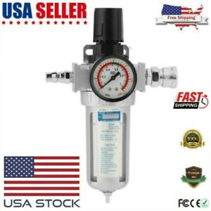 Rc1 4 Air Compressor Moisture Water Trap Filter Regulator With Mount Connector