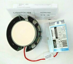 Lightolier Black Trim Round Calculite Led 6 Inch W Dimmable Driver Wet Space