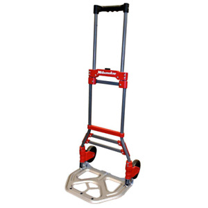 Milwaukee Folding Hand Truck Dolly 150 Lb Capacity Cart Fold up Portable Moving