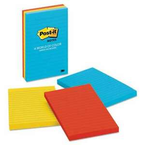 Post it Notes Original Pads In Jaipur Colors Lined 4 X 6 100 021200588983