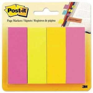 Post it Page Flag Markers Assorted Brights 50 Strips pad 4 Pa 021200588488