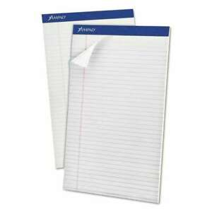 Ampad Perforated Writing Pad 8 1 2 X 14 White 50 Sheets Doze 074319203308