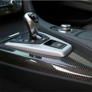 Car Parts Stickers Carbon Fiber Vinyl Wrap Film Interior Control Panel Decals