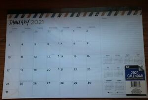 2021 Desk Blotter Calendar Pad Large Flat 17 X 11 12 month jan 2021 dec 2021