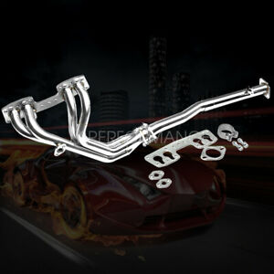 Fit 90 95 4runner pickup 2wd 22r e Stainless Long tube Header Exhaust Manifold