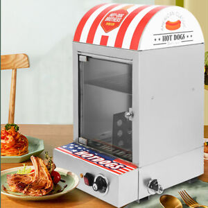Electric 1500w Commercial Hot Dog Steamer Machine 30 110 Sausage Warmer 110v