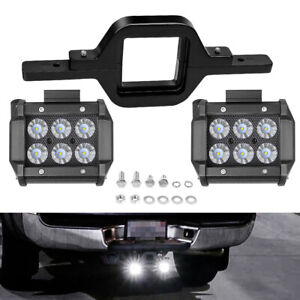 Tow Hitch Mounting Bracket Tailer Truck 2x 4 Dual Row Led Work Light Bar Pods