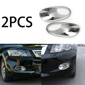 For Honda Accord 2008 2010 Abs Bright Chrome Front Fog Light Lamp Cover Trim 2pc