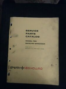 New Holland Model 790 Manure Spreader Service Parts Catalog Iss 5 74