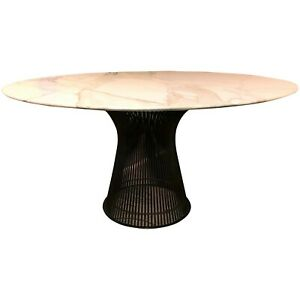 Midcentury Dining Table By Warren Platner For Knoll With Carrara Marble Top