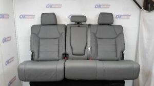 2015 Toyota Tundra Limited Crew Rear Seat Assembly Gray Leather