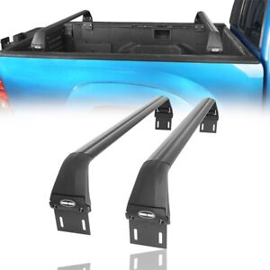 Pair Black Movable Cross Bars For 05 20 Toyota Tacoma 2nd 3rd All Length Bed