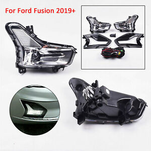 Front Bumper Driving Lamp Led Fog Light Fit For Ford Fusion 2019 2020 Stock