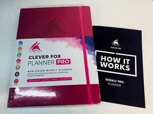 Clever Fox Planner Pro Undated Weekly Monthly Life Planner Pink