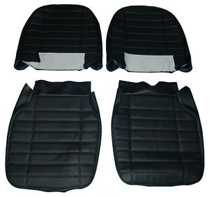 New Pair Of Seat Covers Upholstery Mgb 1973 80 Made In Uk Black