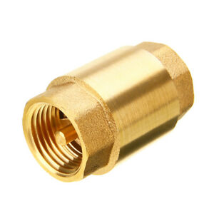 1 Inch Npt Pipe Threaded Brass In line Spring Check Valve Inline One Way Copper