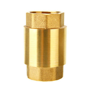 3 4 Npt Pipe Threaded Brass In line Spring Check Valve Inline One Way Copper Us