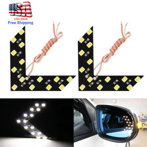 2 Super White 33 smd Sequential Led Arrows Car Side Mirror Turn Signal Lights