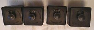 4 Vtg Starrett Electric Mfg Co Chicago Rotary Switches Steam Punk Industrial