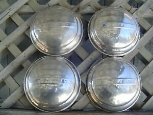 Vintage 1947 1948 Ford Super Deluxe Coupe Truck Hubcaps Wheel Covers Center Caps