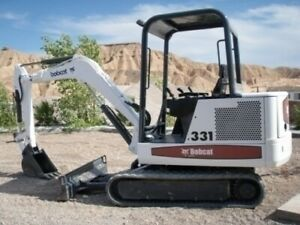 Bobcat X331 X331e X334 Compact Excavator Service Manual 6900464 On Cd