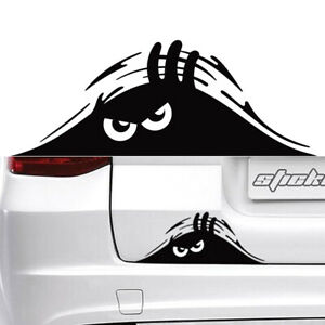 Car Auto Accessories Rear Windshield Decorative Angry Peeking Monster Sticker Fits 2000 Maxima