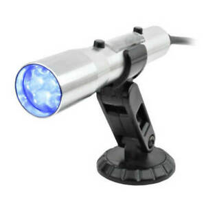 Holley Sniper Shift Light 840012 Standalone Silver Body With Blue Led Lights